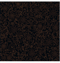 luxury floral background vector image