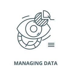 managing data line icon linear concept vector image