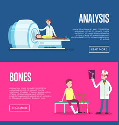 Medical treatment and healthcare posters vector