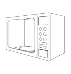 microwave oven outline drawing vector image