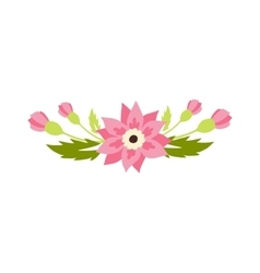 Nature flowers wreath decoration vector image