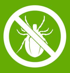 No bug sign icon green vector