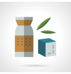 Organic food sign flat icon vector image