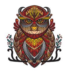 Ornamental owl vector