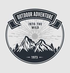 Outdoor adventure vintage label badge logo vector