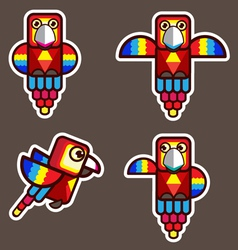 parrot bird abstract cartoon vector image