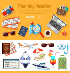 planning vacation infographics vector image