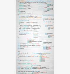 program script code vector image