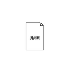 Rar compression document file format flat icon vector