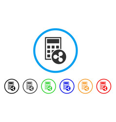 Ripple calculator rounded icon vector