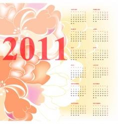 romantic calendar for 2011 vector image