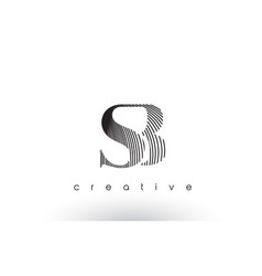 Sb logo design with multiple lines and black and vector