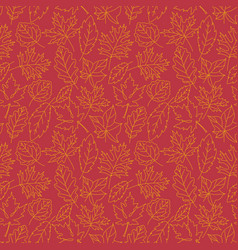 seamless autumn leaves pattern background vector image