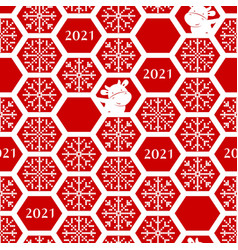 seamless new year 2021 pattern funny christmas vector image