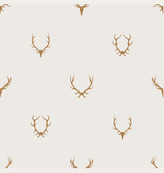 seamless pattern minimalist background with deer vector image