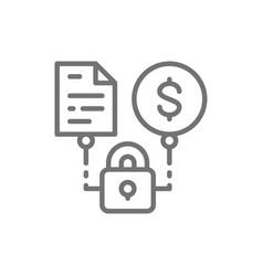Secured loan loan agreement line icon vector