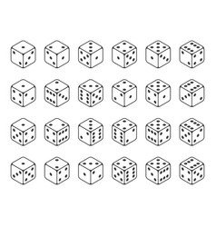 set isometric dice vector image