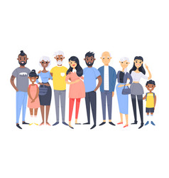 set of different couples and families cartoon vector image