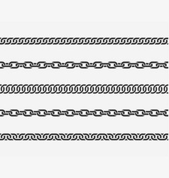 set seamless chain link different chains vector image