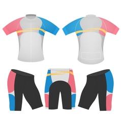 Shorts sleeve women vector