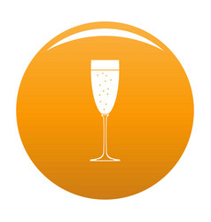 Sparkling champagne icon orange vector