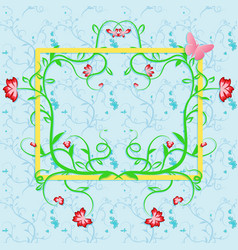 spring time greeting background template of a vector image