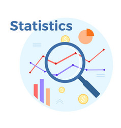 statistics analysis flat vector image