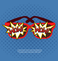 sun glasses with comic bubbles vector image