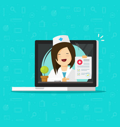 telemedicine flat doctor vector image