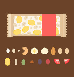 Template for making granola bar vector