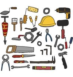 tools hand drawn vector image
