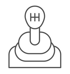Transmission thin line icon gear shift vector