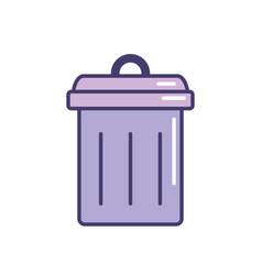 Trash can symbol icon vector