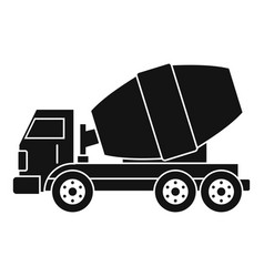 Truck concrete mixer icon simple vector