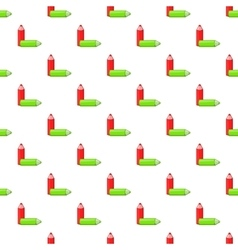 Two pencil pattern cartoon style vector image