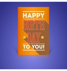 Vintage Birthday Card - vector image