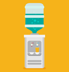flat icon for water cooler gray water cooler with vector image vector image
