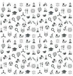 Science and technology seamless background vector image