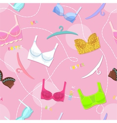 Seamless pattern with womens lingerie vector image