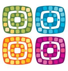 set of board game for children vector image