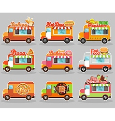 Set of food truck vector