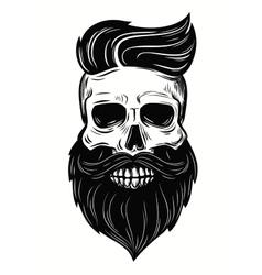 skull on white vector image