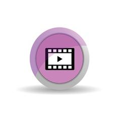 sticker film tape pink vector image vector image