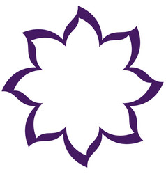 thin contour purple of flower icon vector image vector image