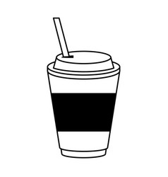Coffee beverage in disposable cup icon image vector