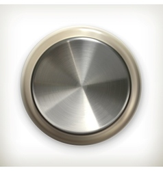 Metal button detailed icon vector image vector image