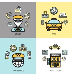 Taxi service design concept flat vector image vector image