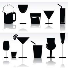 alcoholic beverages vector image vector image