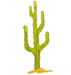 Cartoon nature plant cactus vector