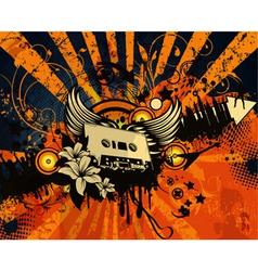 retro grunge concert poster vector image